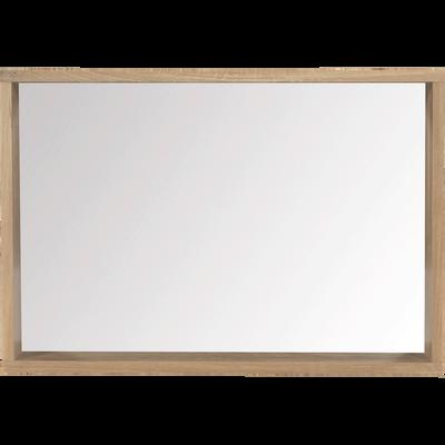 Miroir rectangulaire de salle de bains en chêne 80cm-Native