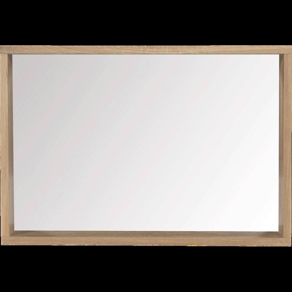 Native - Miroir rectangulaire de salle de bain en chêne 80cm