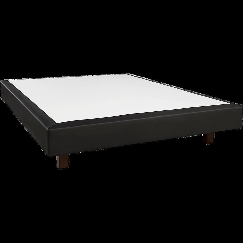 Sommier tapissier noir Duvivier 18 cm - 140x190 cm-CHIC