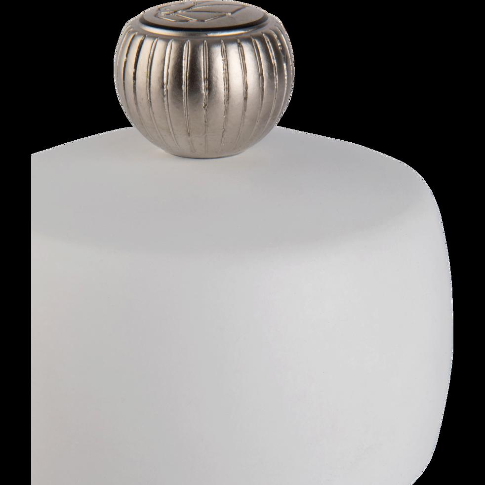 Moulin à sel en bois blanc mat 15cm-TAHITI