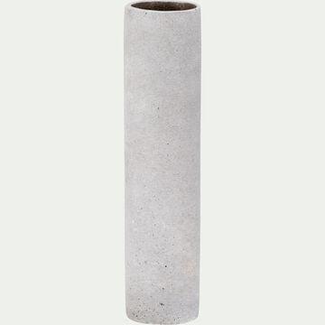 Vase effet béton en polystone - gris H31cm-CALCIS
