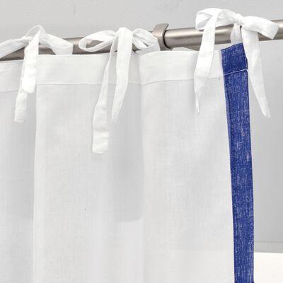 Voilage sérigraphié en coton - blanc 140x250cm-EVORA