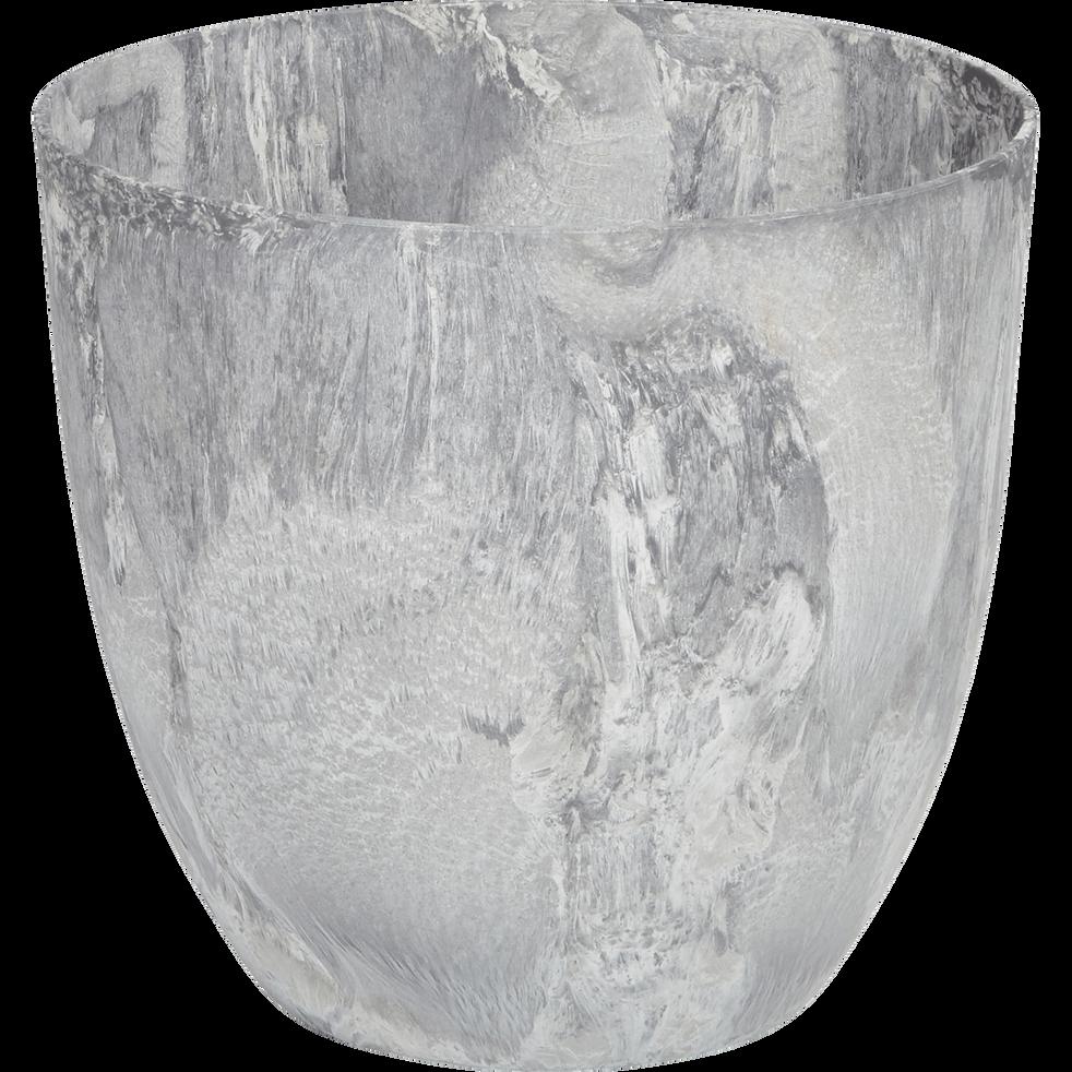 Pot à réserve d'eau gris D38H33cm-BOLA