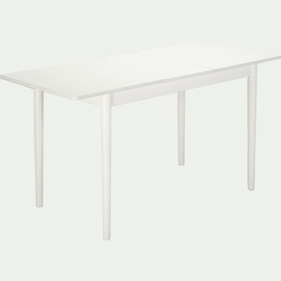 Table extensible en bois - blanc 4 à 6 convives-PEDRO
