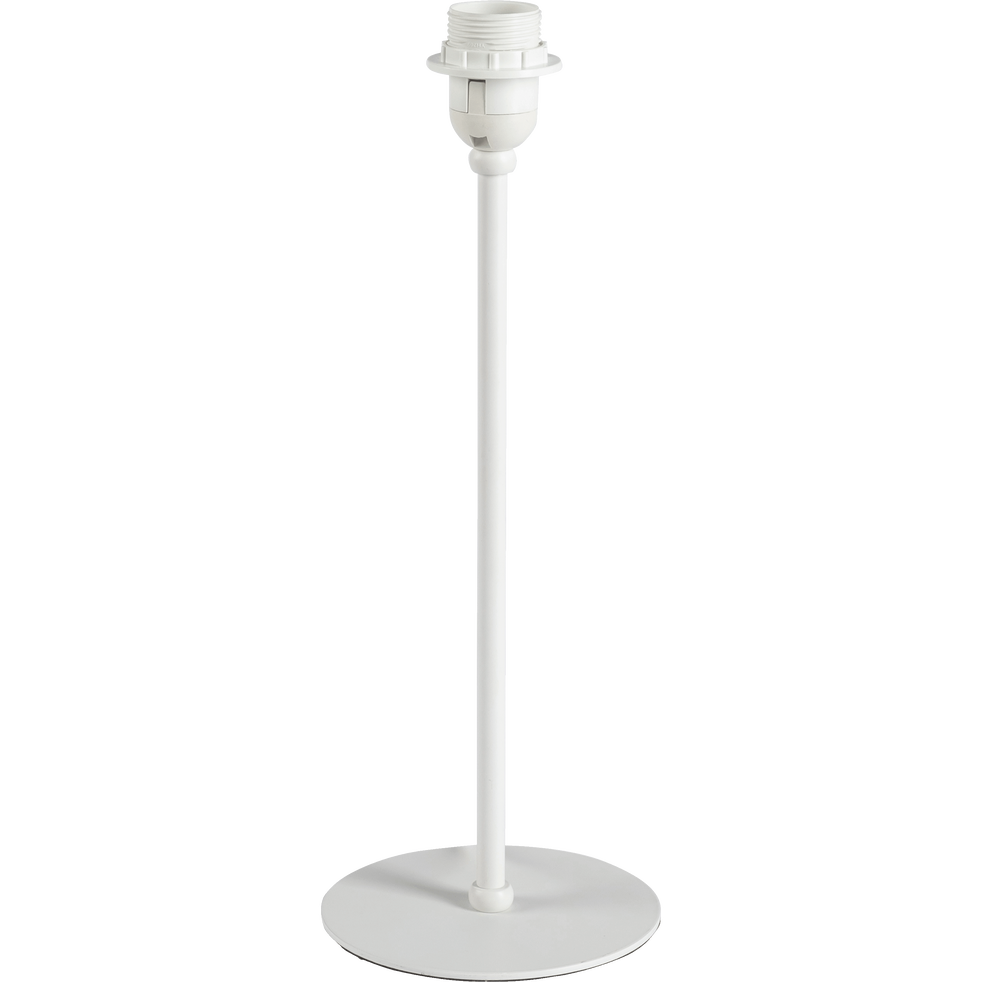 Pied de lampe en métal blanc H41cm-OLIVIO