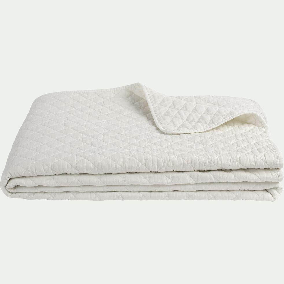 Couvre-lit effet lavé - blanc ventoux 180x230cm-THYM