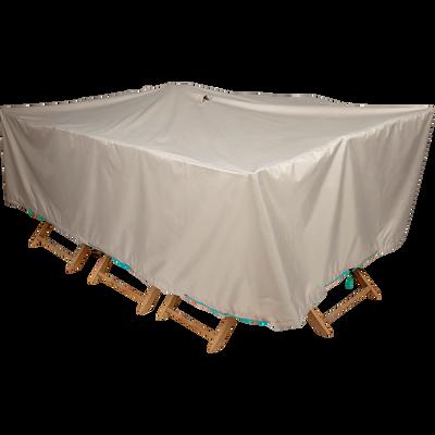 Protection taupe pour table de jardin (L240xP130xH60cm)-HOUSSE