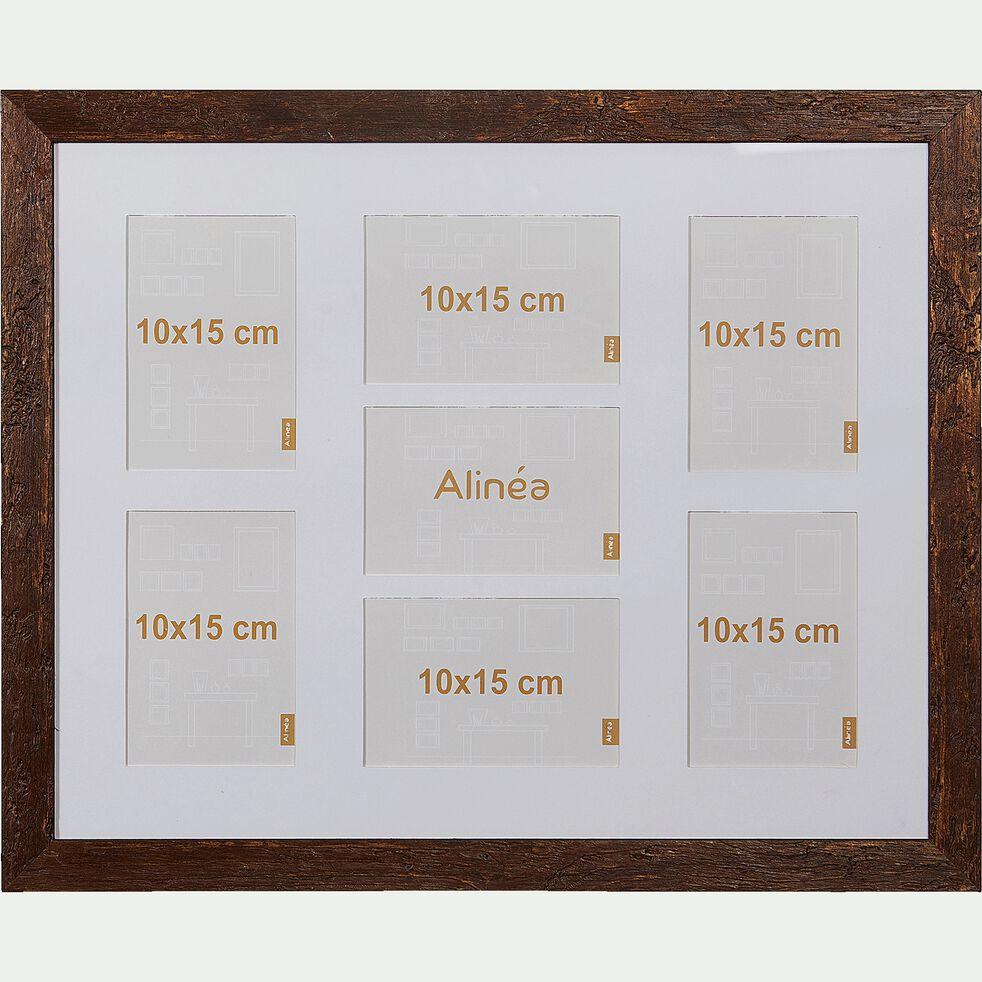 Cadre photo multivues en bois d'Ayous - marron 40x50cm-DIANE