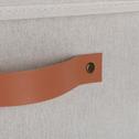 Panier à linge blanc H30cm-ERRO