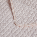 Plaid matelassé en coton rose grège 130x170cm-LIV