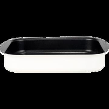 Plat à four rectangulaire en aluminium blanc nougat 25x35cm-PINTO
