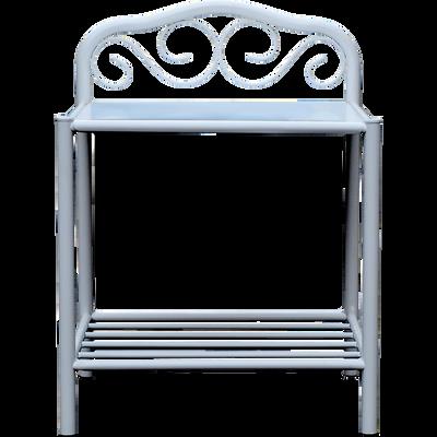 Table de chevet en acier Blanc-CELESTE