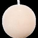 Bougie ronde beige roucas D10cm-BEJAIA