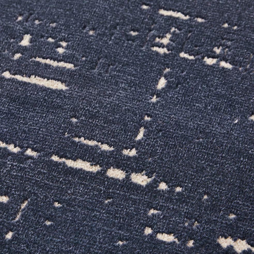 Tapis bleu effet élimé 160x230cm-Blaise