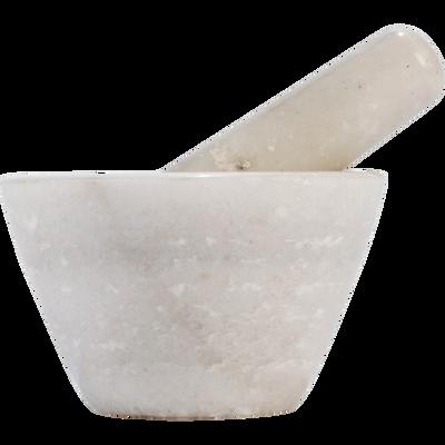 Mortier en marbre blanc-PILAT