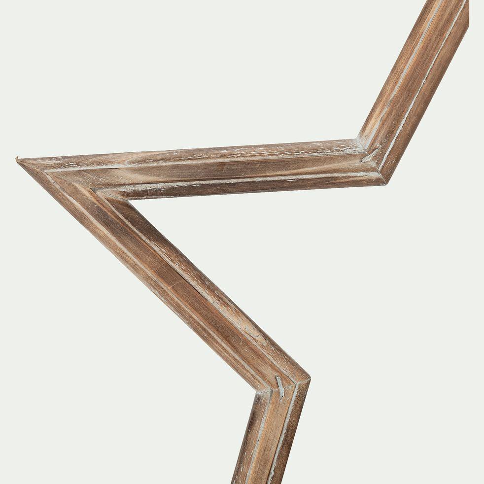 Etoile marron en bois de sapin H47,5cm-TULLE
