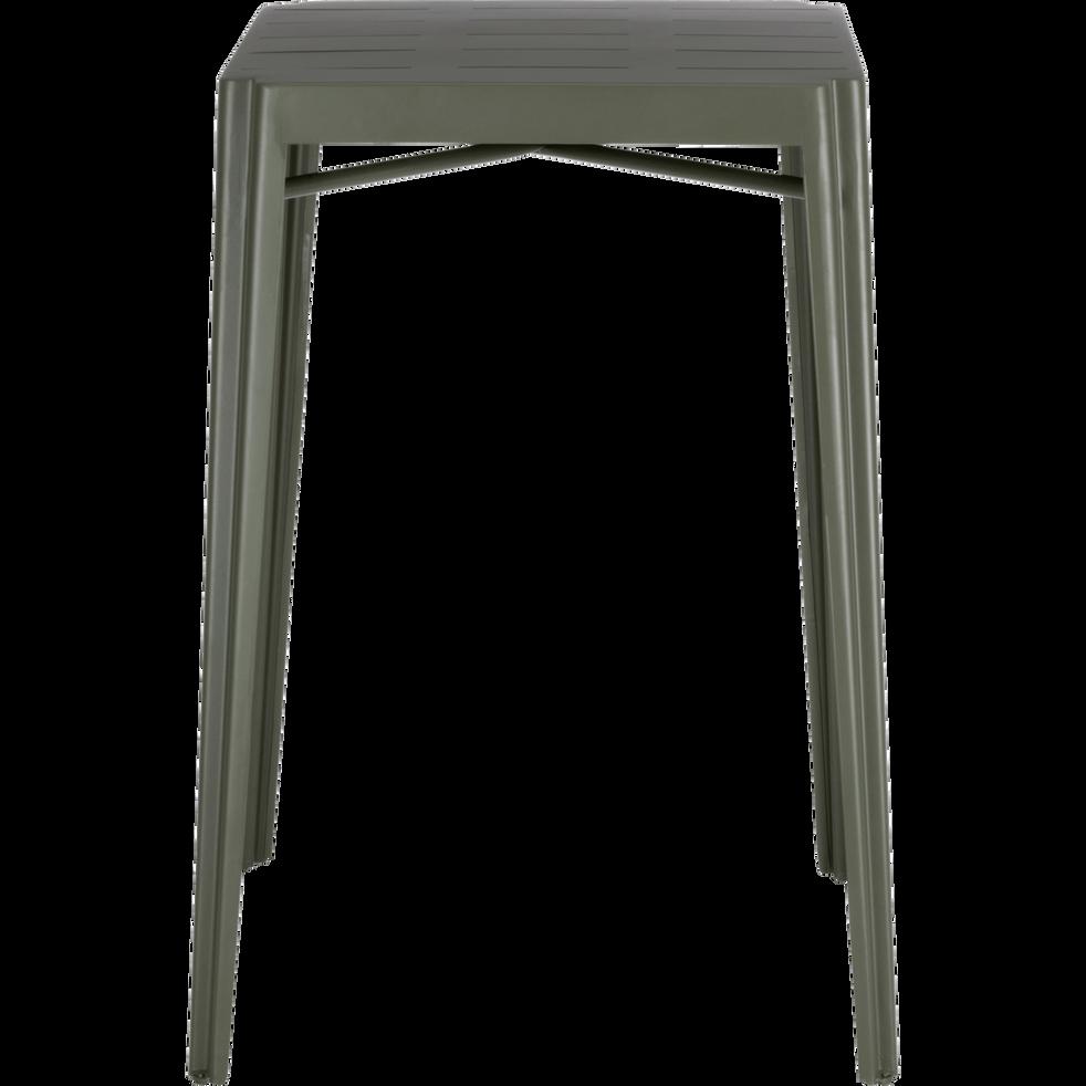 TRIVIA - Table haute carrée en métal vert cèdre