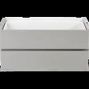 Bloc de 2 tiroirs gris L75cm-LORENA