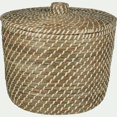 Panier à linge en jonc naturel D39xH30cm-Adam