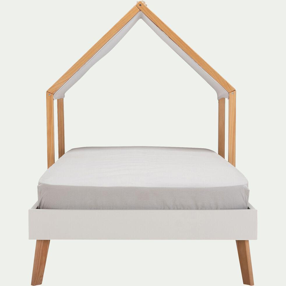 Lit place enfant en bois 90x200cm - blanc capelan-SACHA