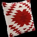 Coussin en coton motifs aztèques rouges 40x40cm-LIMA