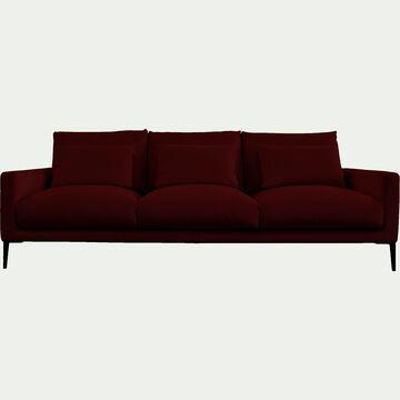 Canapé 5 places en velours - rouge sumac-SOZY