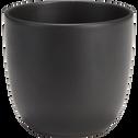 Pot noir en céramique (plusieurs tailles)-TUSCA