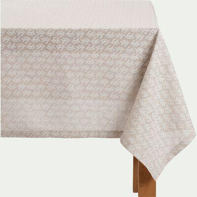 Nappe en lin et coton coloris naturel motifs cyprès 170X250cm-ST REMY