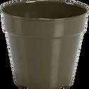 Cache-pot vert cèdre en fer D17xH15cm-FLORA