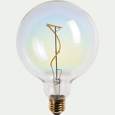 Ampoule LED déco à filament globe lumière chaude - D12,5cm-AMPOULE