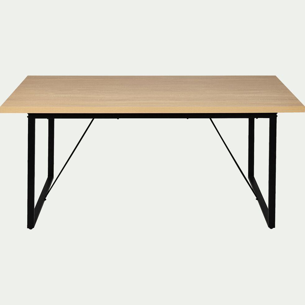 Table Repas Rectangulaire Effet Chene 6 Places Vanille