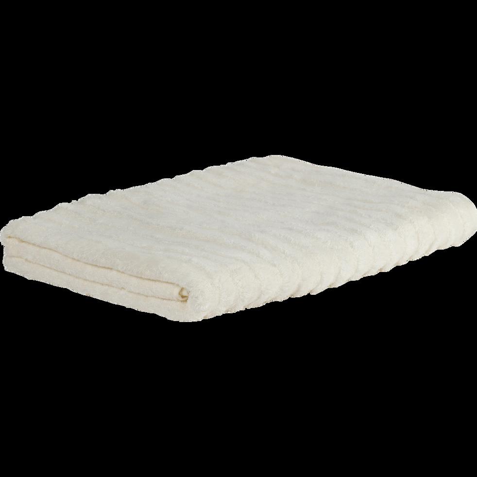 Drap de bain en viscose et coton 100x150cm blanc ventoux-AUBIN
