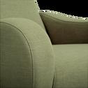 Fauteuil rétro en tissu kaki-BEAN
