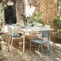 Table de jardin extensible en aluminium - blanc (4 à 8 places)-SOLENA