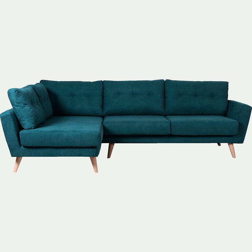 Canapé d'angle fixe gauche en tissu - vert-ICONE