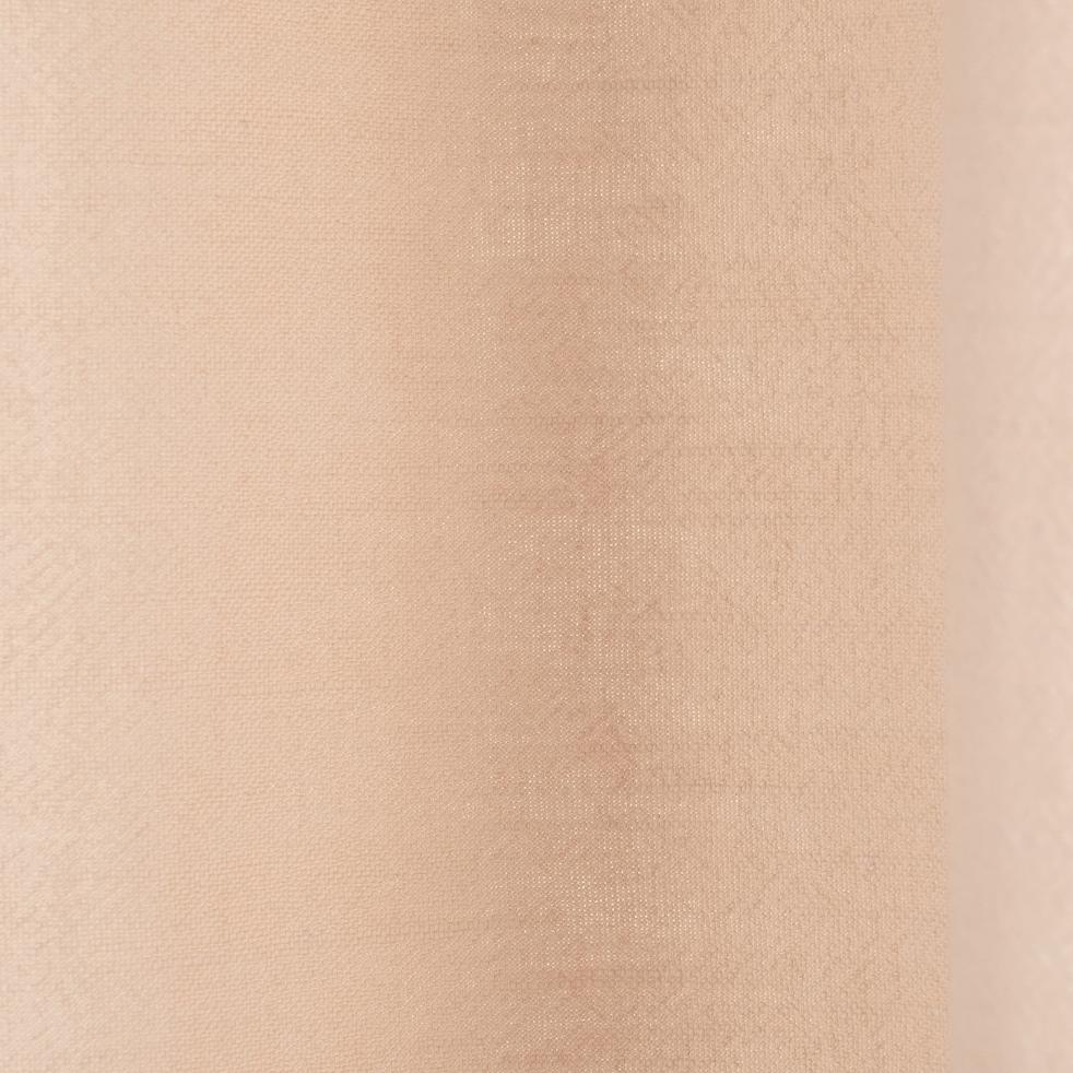 Rideau à oeillets en ramie beige roucas 130x250cm-RAMY