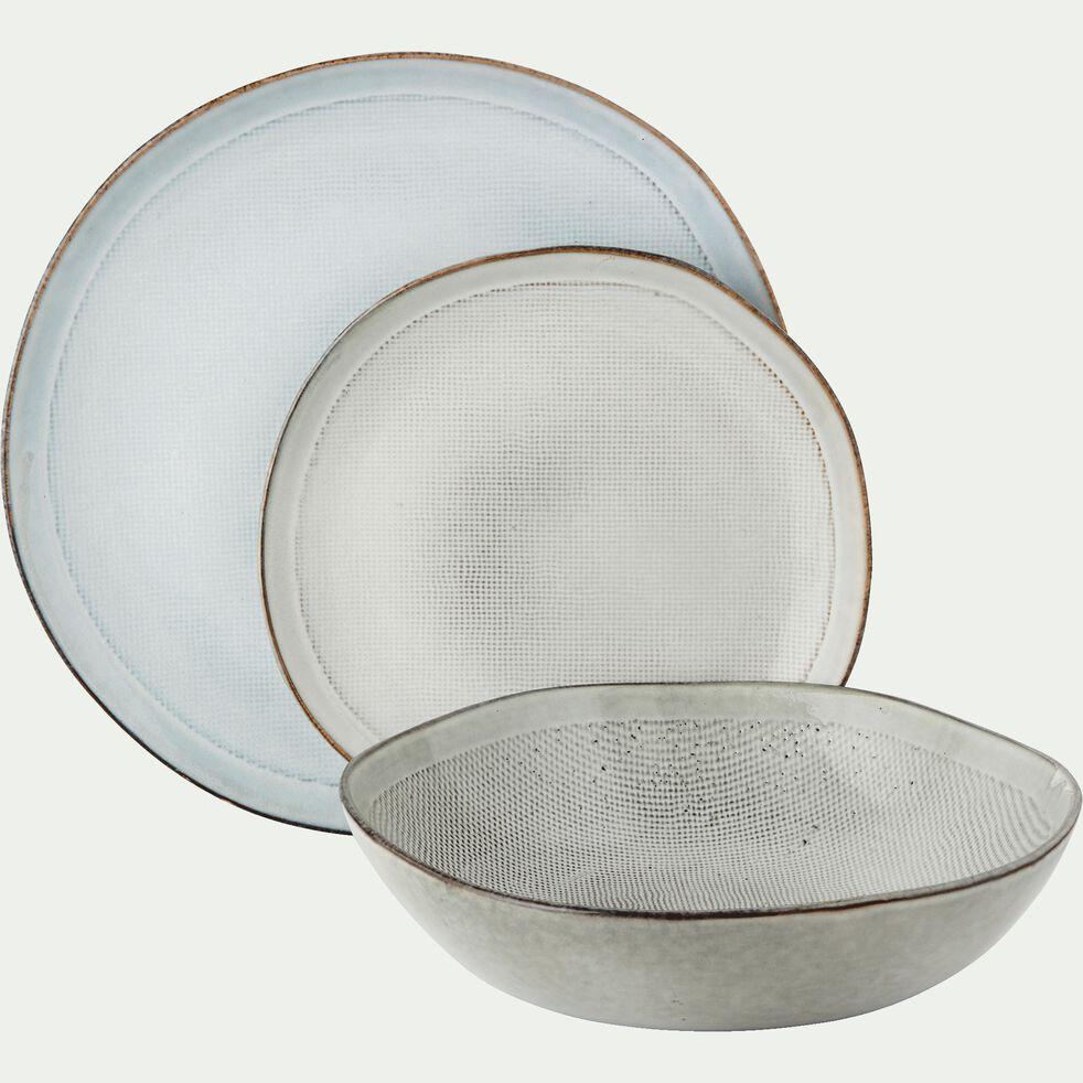 Saladier en grès blanc D22cm-ALONG