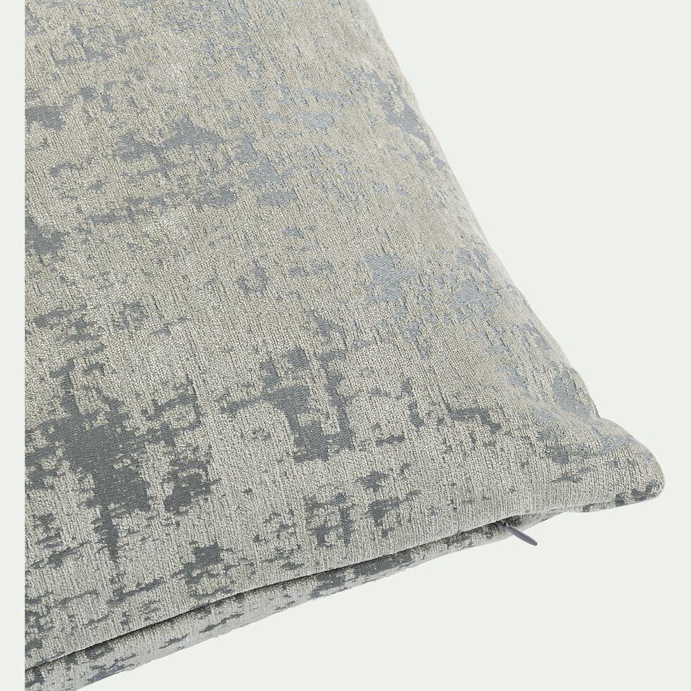 Coussin en velours dévoré - gris 40x55cm-CHI