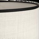 Abat-jour noir et beige D30cm-MARKA