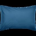 Lot de 2 taies d'oreiller en coton Bleu figuerolles 50x70cm-CALANQUES