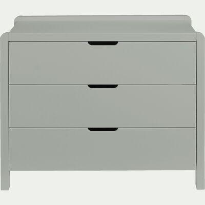Commode 3 tiroirs en bois vert olivier-JAUME
