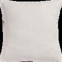 Coussin en lin lavé blanc ventoux 45x45cm-VENCE