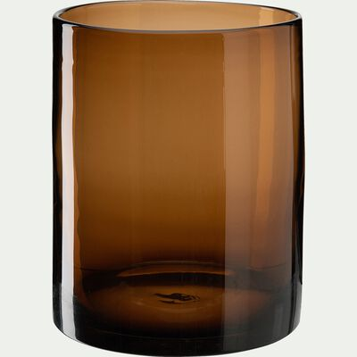 Vase en verre marron H22cm-MARCEAU