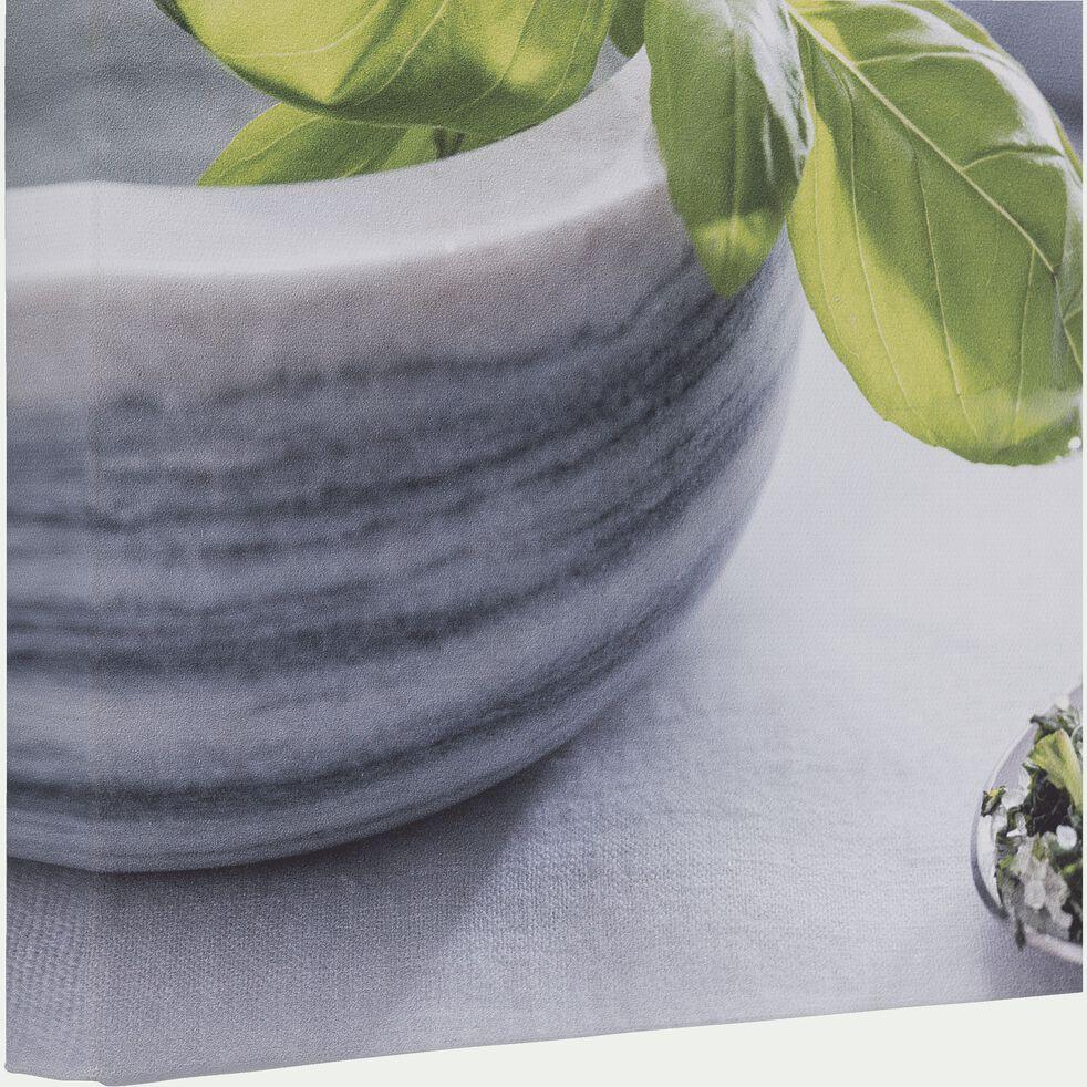 Toile imprimée gris 30x30 cm-ESBEJA
