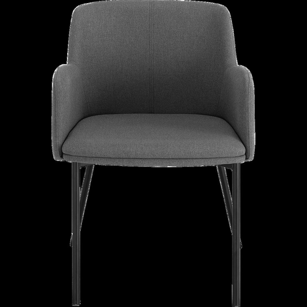 Chaise en tissu avec accoudoirs gris restanque-TINOU