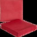 Lot de 20 serviettes intissé rouge arbouse 40x40cm-SALERNE
