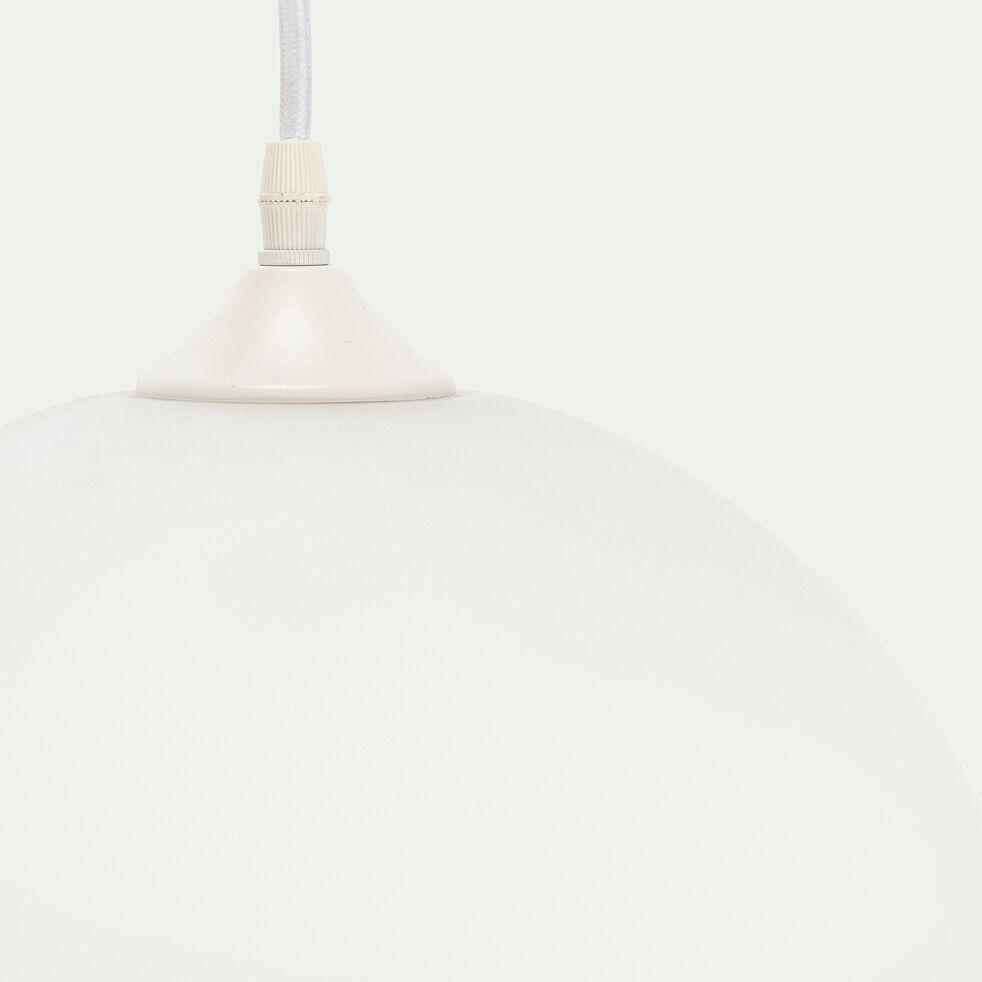 Suspension en verre opaque et métal D30xH130cm-MARCELINO