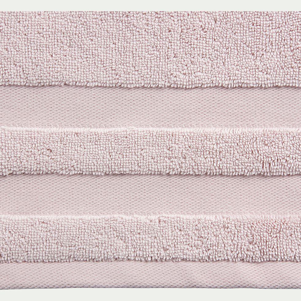 Drap de douche en coton - rose simos 70x140cm-Rania