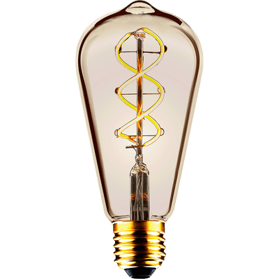 Ampoule LED décorative ambrée D6,4cm culot E27-POIRE