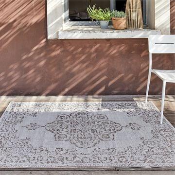 Tapis persan intérieur et extérieur - écru 160x230cm-MARQUISE
